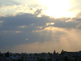 Sun over Larnaca by Tornquist