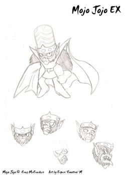 Mojo Jojo sketches by emotwo
