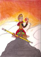 Sun Wukong Monkey King Drawing by iamtherealbender