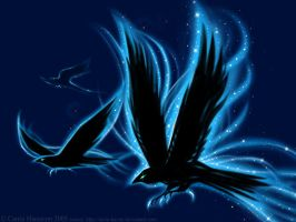 Ravens Wallpaper -detail- by Aerin-Kayne