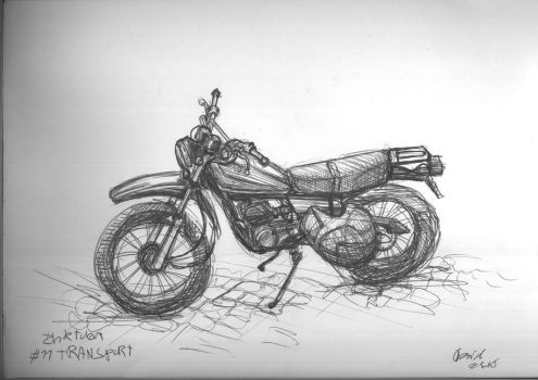 Inktober 11 Transport by duh-veed