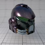 Space Marine Helm WIP by Mesciurius