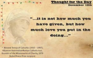 Thought for the Day - December 12th by ebturner