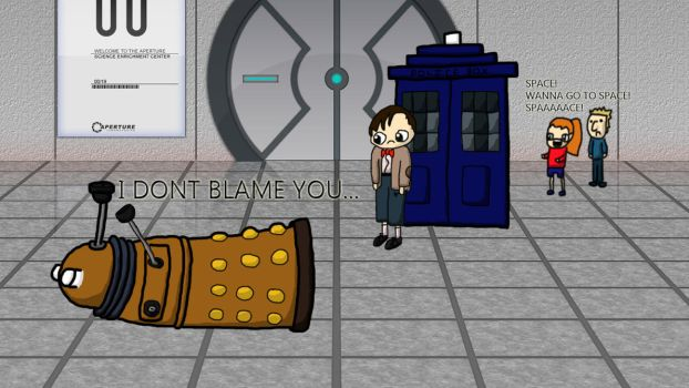 Dr. Who / Portal by TehJimlad