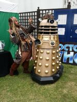 jack sparrow lookalike and a dalek by TruEntertainments