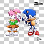 Classic Sonic and Amy by Mariohenri