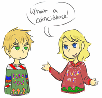 ugly sweaters by Milk-Tea-Panda