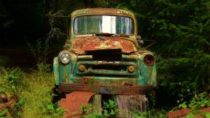 Old Truck Rusting In Peace by PamplemousseCeil