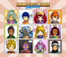 Anime Face Maker Mobile : Preview 2 by gen8