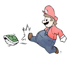 Mario kickin' it by PotemkinBuster