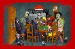 Horror Icons playing poker (redux) by photon-nmo