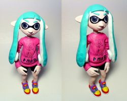 Inkling Girl Figurine - Super Sculpey - Painted by pancakesandhalibut