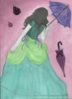 Victorian Woman With Parasol by ASanti777