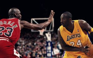Kobe Bryant vs Michael Jordan Wallpaper by lisong24kobe