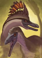 Velociraptor Pair by mirroreyesserval