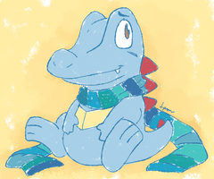 IT'S A TOTODILE by teeny-pie-minion