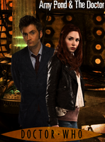 The 10th Doctor and Amy Pond Poster by feel-inspired