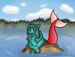 Mermaid Wolf by ElectricExploder