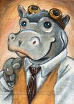 Steampunk Hippo by sobeyondthis