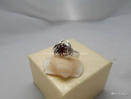 'Vampire teeth' handmade sterling silver ring by seralune