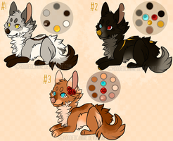 Chibi Foxes Auction CLOSED by HoodedCanine