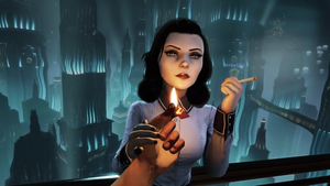 Bioshock Infinit Elizabeth with cigarette by olegavi