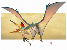 Quetzalcoatlus by CamaraSketch
