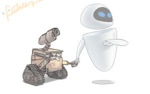 WallE and Eve by atherather