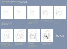 Sasuke drawing tutorial by tootaa18