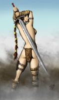 Female Barbarian by Sebbec