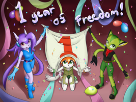 1 Year of Freedom by JT-Metalli