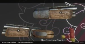 Short barrel shotgun Render sheet by TheOvermareStudios