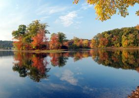 Gager's Pond - Autumn 2007 by mcbarker