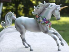 Breyer Unicorn Aurora Stock 3 by Lovely-DreamCatcher