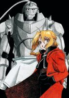 The Elric Brothers by Kyokyogirl