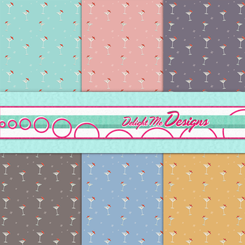 Martini Madness Digital Scrapbook Paper by MissJessicaJean