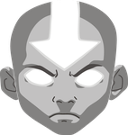 Aang in avatar state by Leo-Chelny