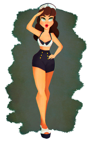 Pin-up girl 2 by Misspingu