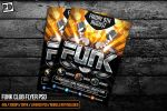 FUNK CLUB FLYER PSD by pixeldelightuk