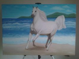 The Horse White 28 by eduaarti