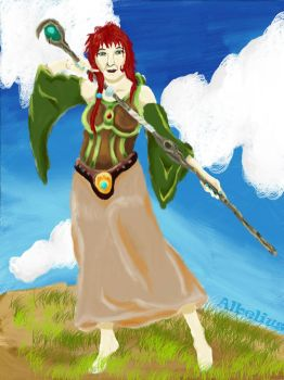 Mage on the hill by Albelius