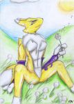 Relaxing Renamon by danwolf15