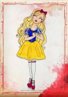 EAH Apple White as Disney's Snow White by WhiteHeather