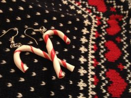 Candy Canes Earrings by Eminentia