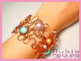 Copper Wire Bracelet by colourful-blossom