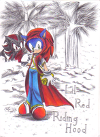 Sonadow Lil Red Riding Hood by sonicartist16