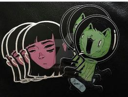 space cat and misery by uroera