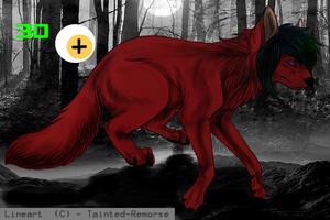 wolf adoptable 35 points by x-Andy-Sixx-x