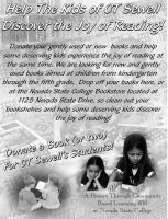 NSC book drive flyer by laurichg