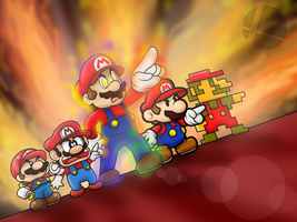 SSB Wii U/3DS: Mega Man Final Smash in Mario Style by SuperLakitu